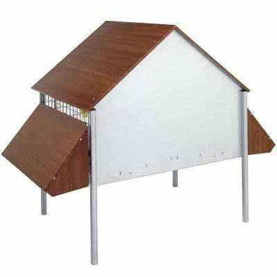 Vista de la parte trasera: Eco gallinero de exterior.
