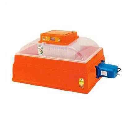 Incubadora semiautomática para gallinas con palanca exterior