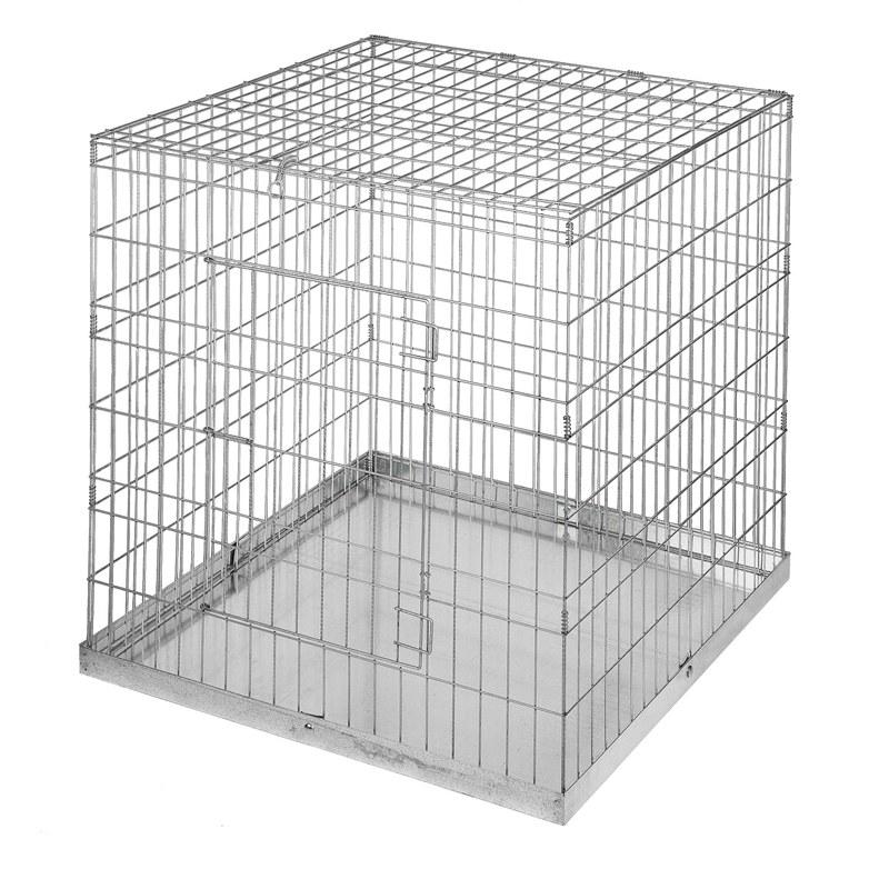 Vista de una jaula cúbica de exposición.